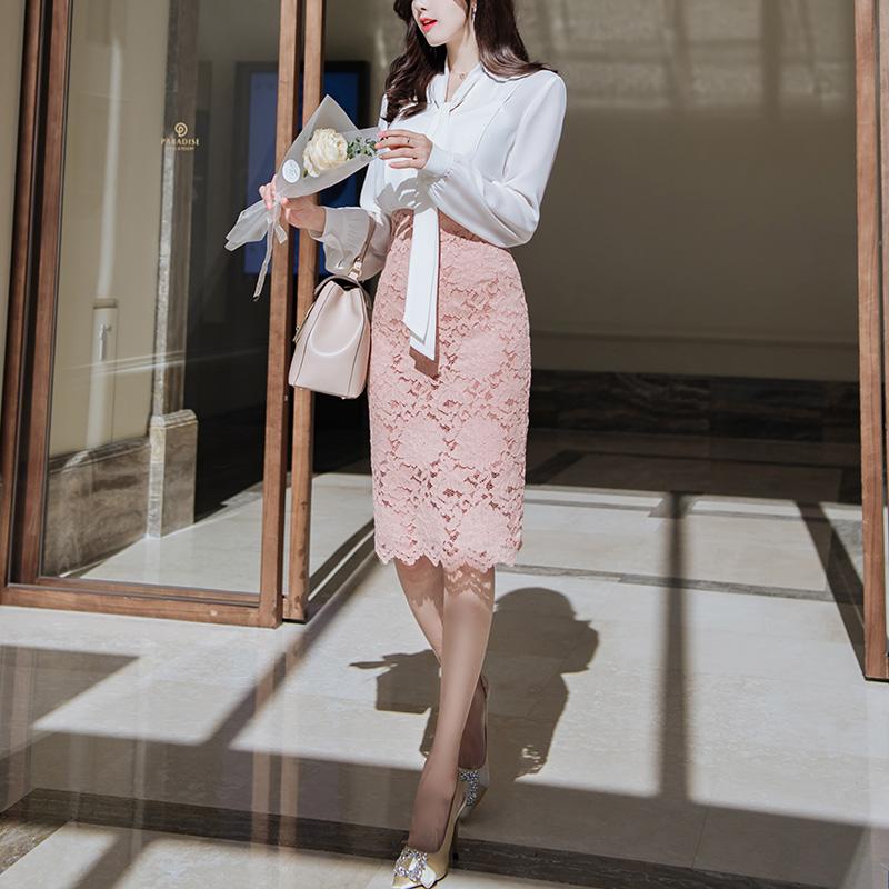 sk1521 미니,5부,롱기장 3가지 타입의 슬림 H라인 레이스 스커트 skirt