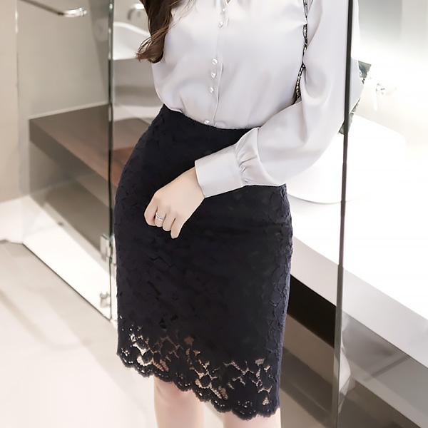 sk2349 하이웨이스트 H라인의 플라워 레이스 스커트 skirt