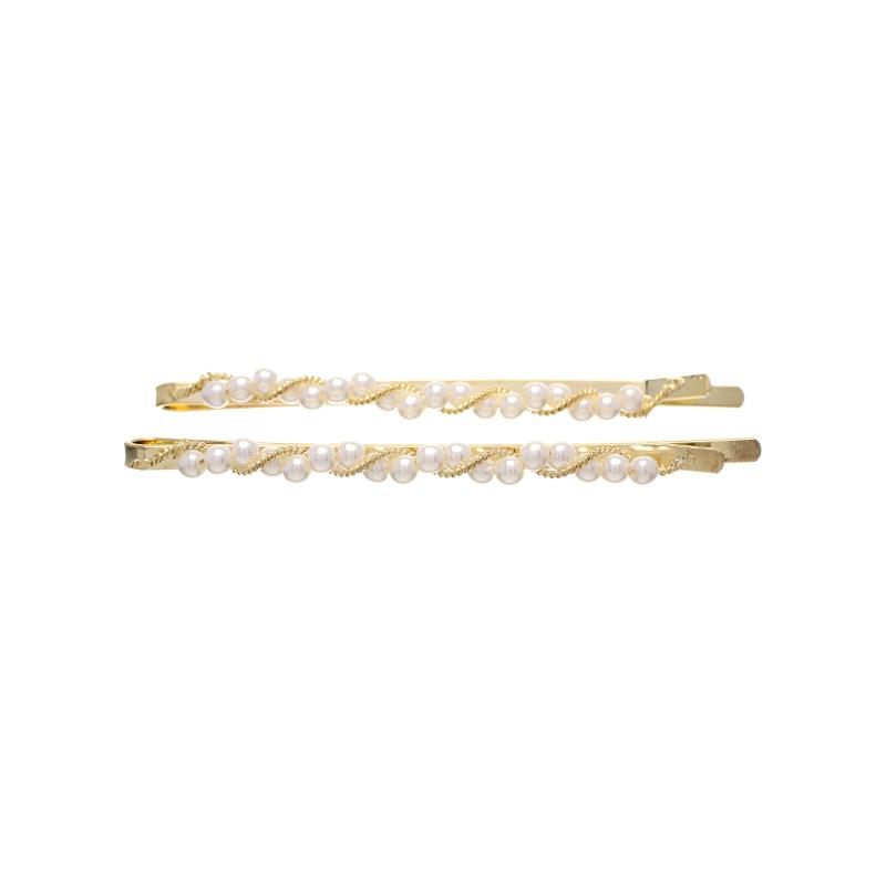 ac3571 여리한 곡선과 스몰 진주 장식의 슬림 실핀 SET hairpin