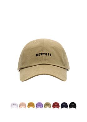 ac3580 캐쥬얼한 뉴욕 레터링 자수 포인트의 8컬러 코튼 볼캡 hat