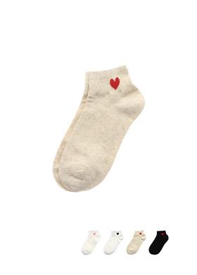 un154 귀여운 하트 레터링의 데일리 양말 socks
