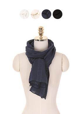 ac3793 쾌적한 코튼소재의 봄시즌 데일리 무지 스카프 scarf