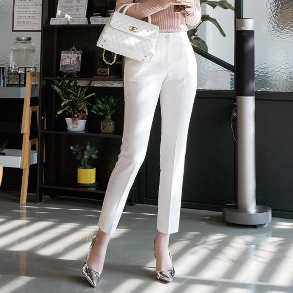 ps1636 모던세련무드 날씬 일자핏 데일리 슬랙스 pants
