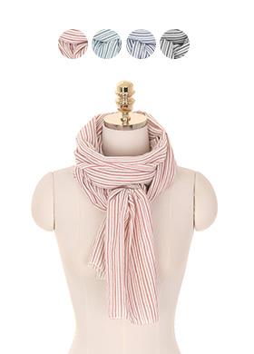 ac3797 언제나 사랑받는 스트라이프 패턴의 롱 스카프 scarf