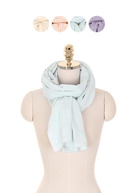 ac3795 여리여리한 파스텔톤의 무지패브릭 롱 스카프 scarf