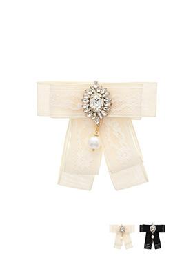ac3826 어느 룩에나 다 잘 어울리는 로맨틱한 큐빅N진주 드롭 브로치 brooch
