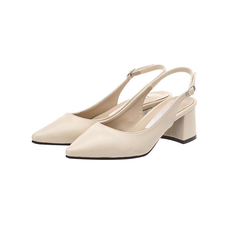 sh1332 깔끔 베이직 디자인의 슬림코 미들힐 슬링백 슈즈 shoes