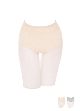 un170 깔끔하고 편안한 코튼 혼방 소재로 제작된 무봉제 반하이웨이스트 팬티 underwear