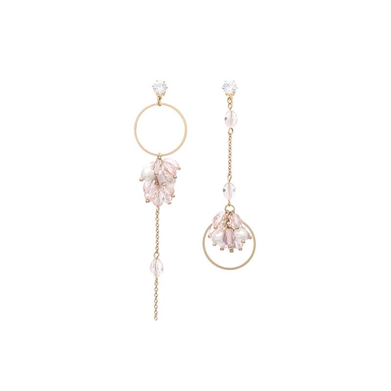 ac3857 벚꽃처럼 사랑스러운 페이스라인을 선사해주는 언발 드롭 이어링, 귀찌 earring