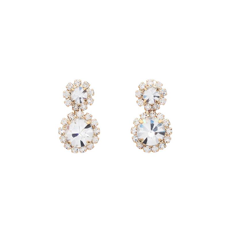 ac3868 고급진 반짝임이 남다른 더블 라운드 포인트 귀찌, 이어링 earring
