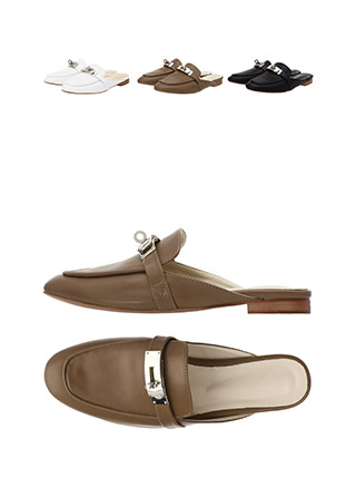 sh1321 명품 감성 그대로 제작된 엘레강스한 실버 버클 블로퍼 플랫 슈즈 shoes