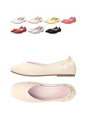 sh1350 쫀득한 뒷꿈치 히든밴딩처리로 한층 편안한 착화감의 둥큰코 플랫슈즈 shoes
