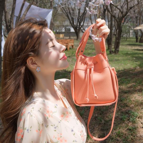bg717 귀염뽀짝한 복조리 쉐입의 미니 토드N숄더백 bag