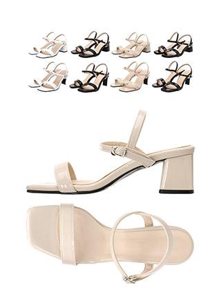 sh1409 에나멜, 페이크레더 2가지 타입으로 구성된 씬스트랩 메리제인 오픈토 미들힐 슈즈 shoes