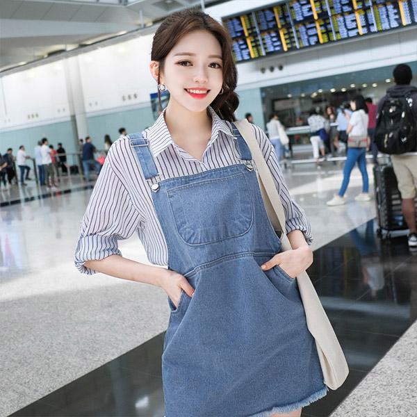 bs4310 소프트한 거즈 소재로 제작되어 입은 듯 안입은듯 무척 가벼운 스트라이프 패턴 남방 blouse