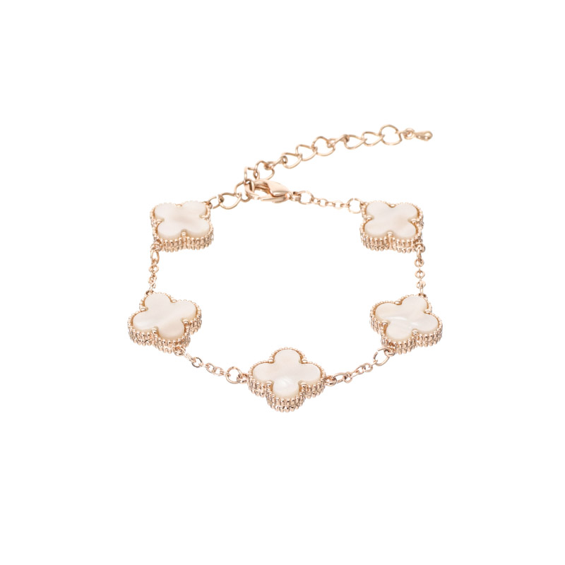 ac3899 로맨틱한 클로버 모티브 장식의 체인 브레이슬릿 bracelet