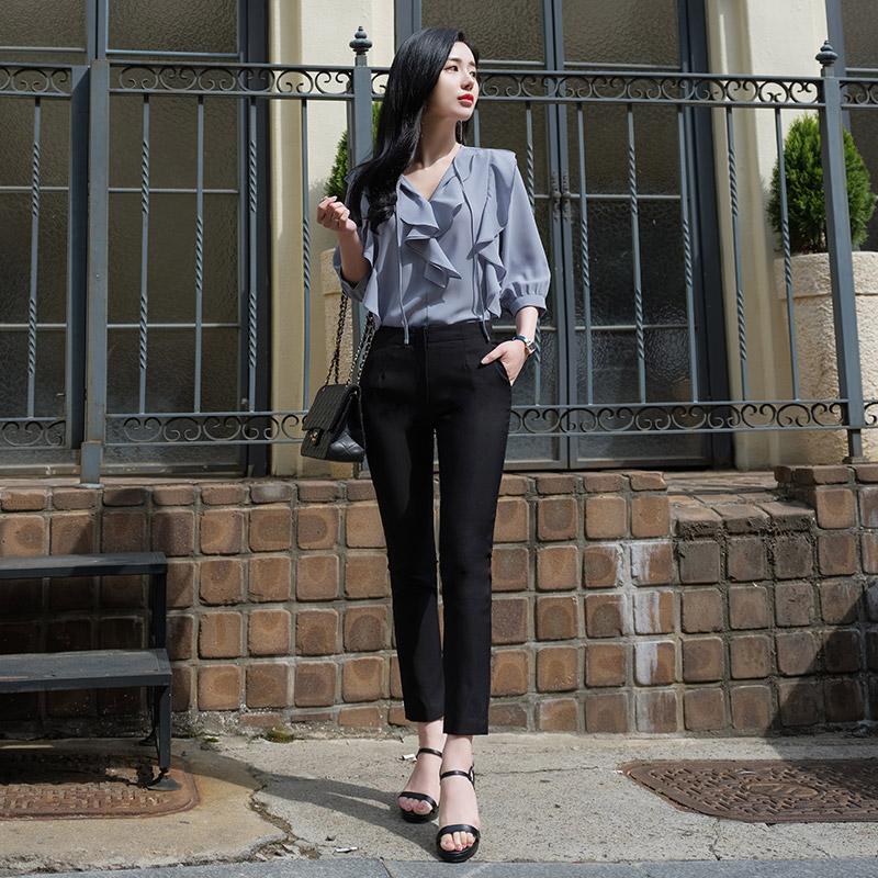 ps1730 날씬슬림한 핏 선사해주는 쫀쫀스판 베이직 스키니핏 슬랙스팬츠 pants