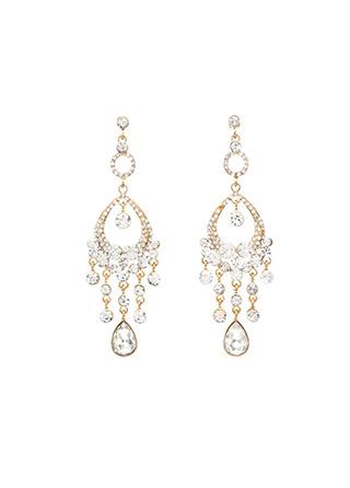 ac3900 엘레강스한 샹들리에 쉐입의 큐빅 드롭 포인트 빅 이어링 earring