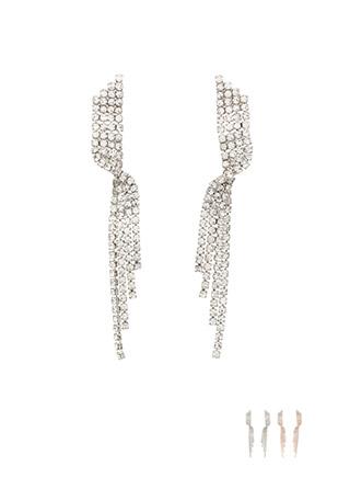 ac3915 우아한 웨이브 쉐입이 매력적인 큐빅 언발 데일리 드롭 이어링 earring