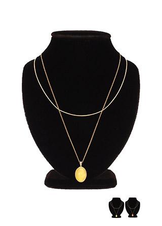 ac3931 은은한 컬러 원석 펜던트의 레이어드 네크리스 necklace