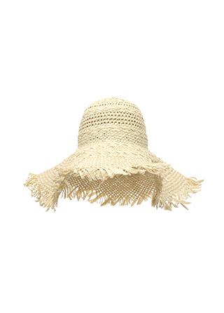 ac3932 끝단 테슬 장식의 와이드 챙 밀짚 파나마햇 hat