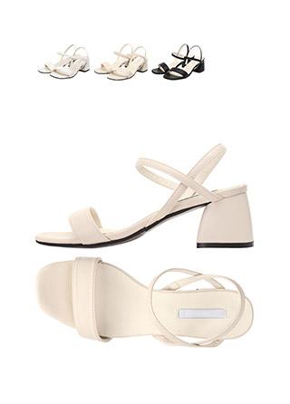 sh1437 발목까지 안정감있게 잡아주는 더블 스트랩 디자인의 오픈토 미들힐 shoes