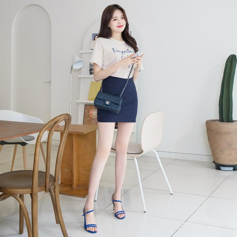 sk3490 미니와 5부 2타입의 10가지 다채로운 컬러로 구성된 H라인 베이직 린넨 스커트 skirt