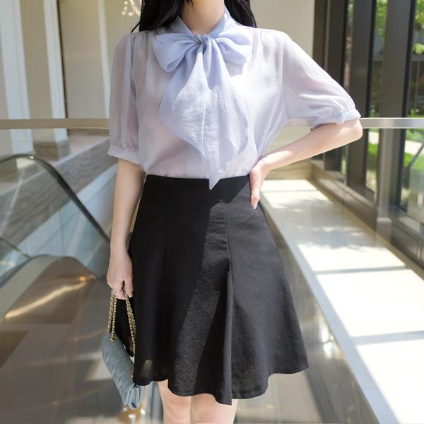 sk3493 딱 예쁜 4부기장의 쿨링 썸머원단 A라인 베이직 훌스커트 skirt