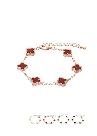 ac3951 고급스러운 네잎클로버 쉐입의 체인 브레이슬릿 bracelet