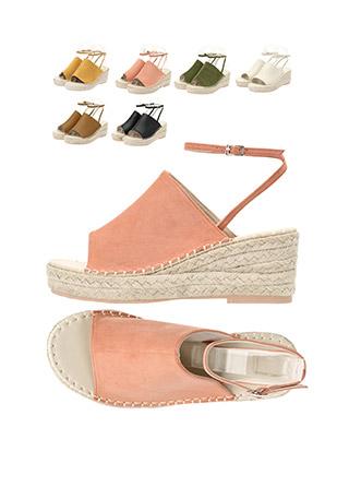 sh1466 스웨이드 포인트의 메리제인 웨지힐 shoes