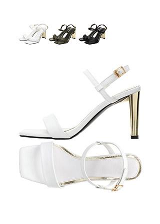 sh1470 엣지있는 골드 굽 포인트의 메리제인 샌들 힐 shoes
