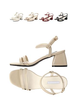 sh1471 데일리로 신기 좋은 더블 스트랩 디자인의 미들힐 에나멜 슈즈 shoes