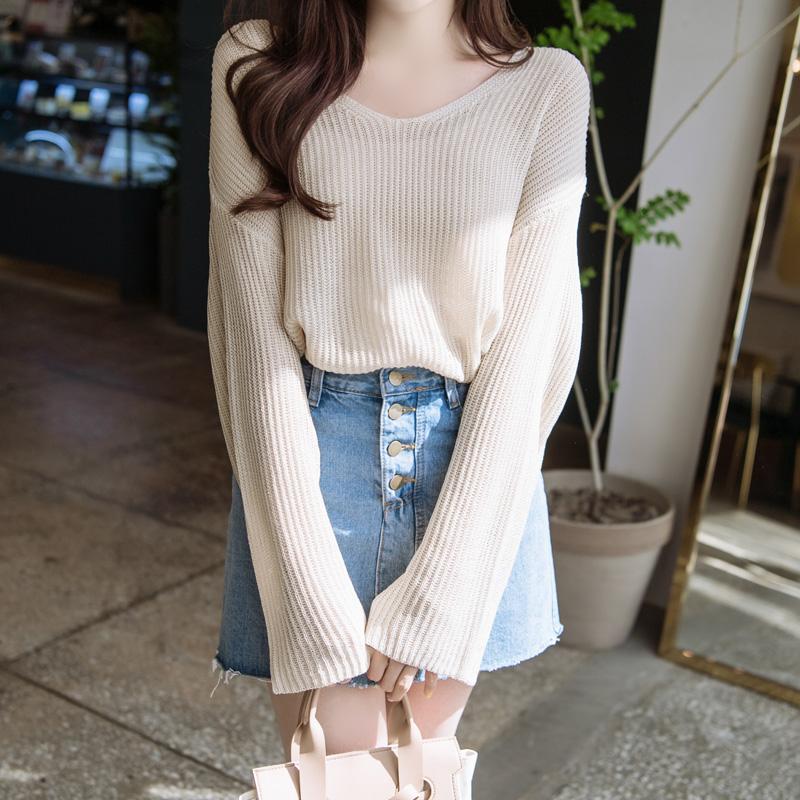 nt1854 비치웨어로 입어도 좋은 루즈핏 디자인의 시스루 그물 니트 knit