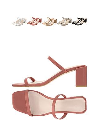 sh1473 말랑한 발등스트랩 디자인의 미들 통굽 블로퍼 뮬 힐 shoes