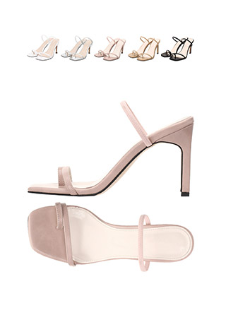 sh1478 밴딩 스트랩의 슬림한 굽라인의 쪼리디자인 샌들힐 shoes