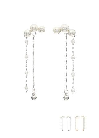 ac3955 유연한 쉐입으로 예쁘게 감싸지는 진주 드롭 이어링 earring