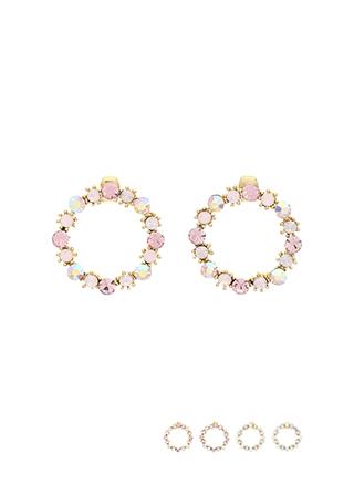 ac3961 귀엽게 완성된 라운드 쉐입의 포인트 이어링 earring