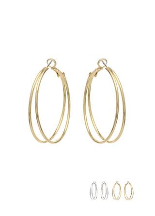 ac3969 세련된 두줄 쉐입의 미디엄 사이즈 링 귀걸이 earring