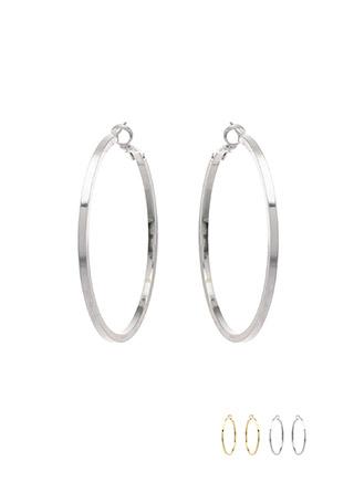 ac3971 볼드한 사이즈의 시크한 링 이어링 earring
