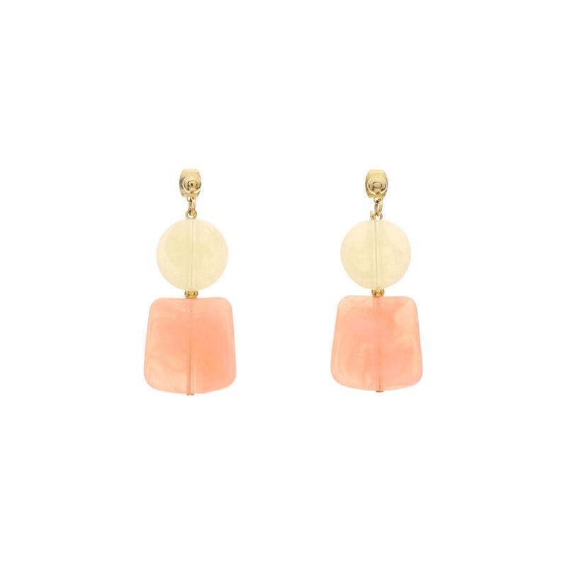 ac3972 사랑스러운 스퀘어,라운드 마블링 펜던트 장식의 드롭 이어링 earring