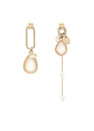 ac3957 언발런스한 디자인이 매력적인 호마이카 골드 포인트 이어링 earring