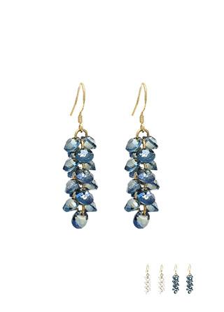 ac3976 영롱한 비즈 드롭 디자인의 포인트 이어링 earring