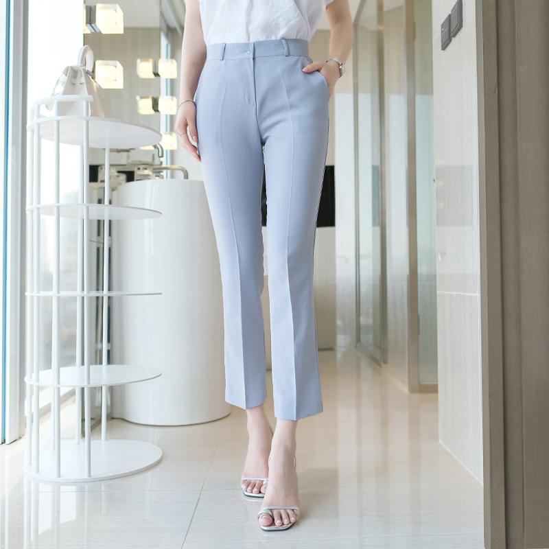 ps1781 가볍고 시원한 착용감의 베이직 슬림핏 쿨링썸머 9부 슬랙스진 pants