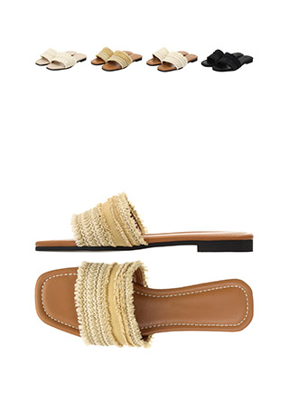 sh1494 네츄럴한 무드의 수술 포인트 블로퍼 샌들 shoes
