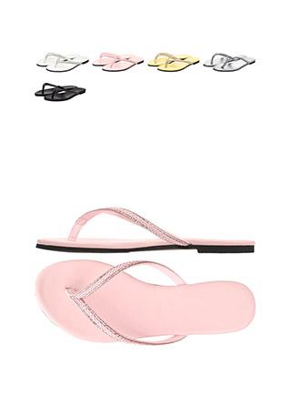 sh1498 꼬임 디자인에 은은한 큐빅을 더한 포인트 쪼리 샌들 shoes