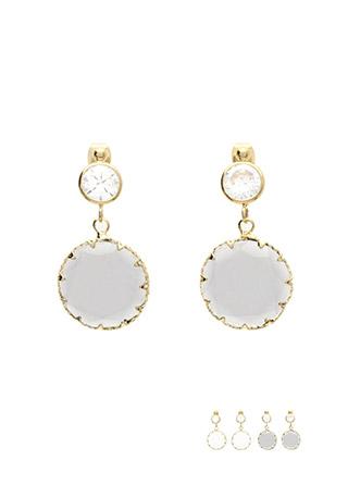 ac3965 컷팅 포인트로 더 화려하게 반짝이는 크리스탈 큐빅 드롭 이어링 earring