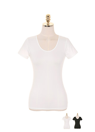 un215 쫀득한 소재와 산뜻한 통기성이 돋보이는 라운드넥 티셔츠 underwear