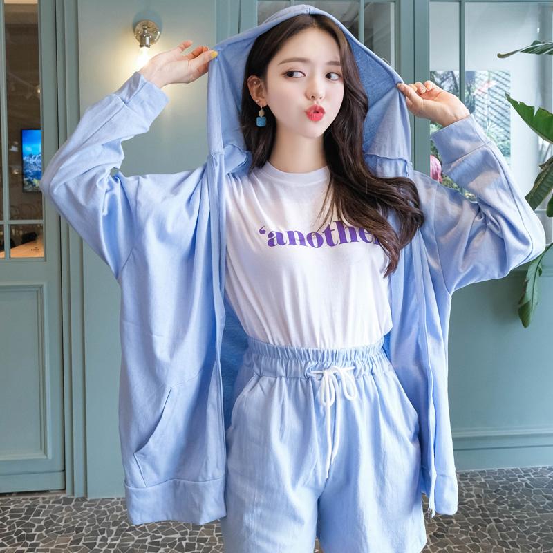 cd1119 편안하고 예쁘게 착용가능한 후드,나시,팬츠 3 SET cardigan