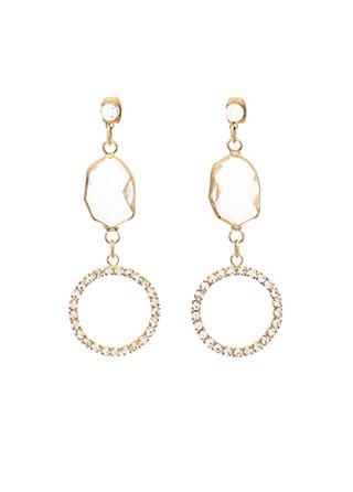 ac3985 결컷팅 포인트로 반짝임이 남다른 로맨틱 드롭 이어링 earring