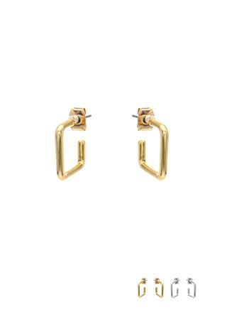 ac3996 심플한 듯 엣지있는 미니 스퀘어 이어링 earring